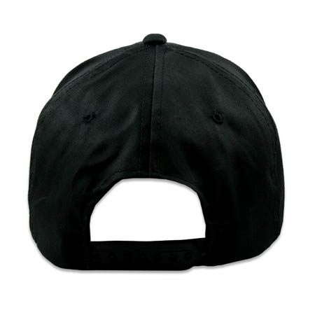 mens solid black cotton high crown snapback caps & hats