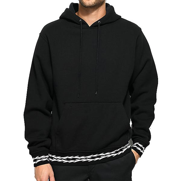 mens black cotton hoodies