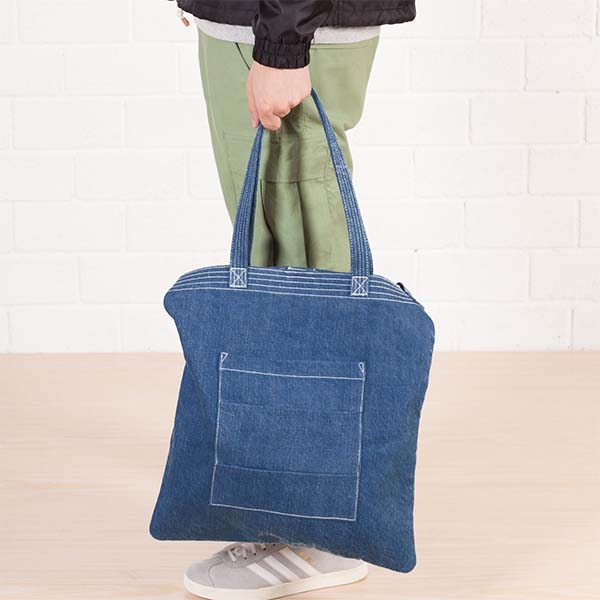 Wholesale jeans blank tote bag