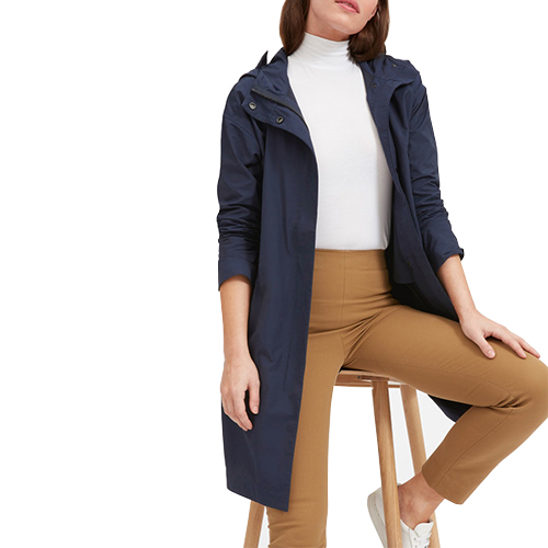 ladies water proof knee length jacket