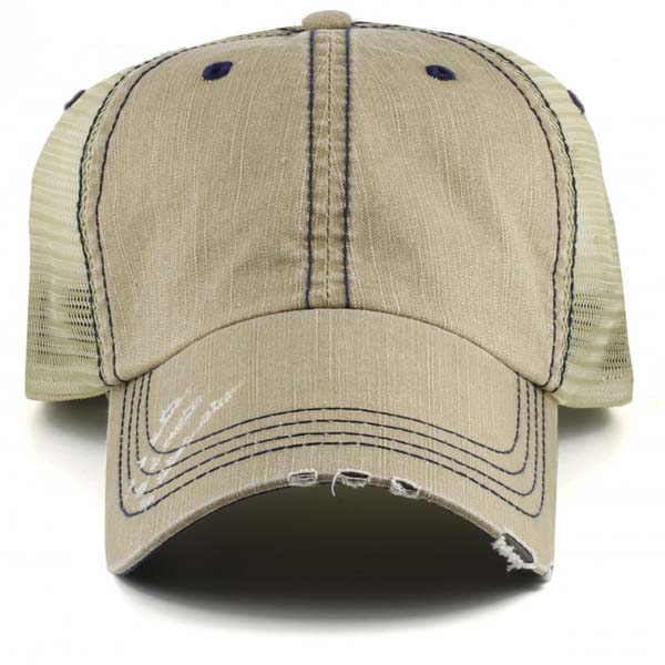mens grey denim trucker cap
