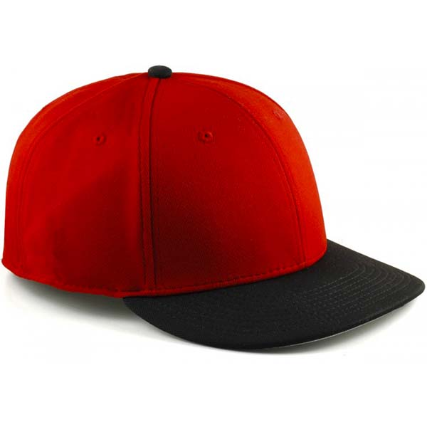 classic red and black blank flexfit cap