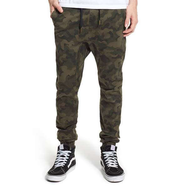 mens cotton camouflage printed jogger pants